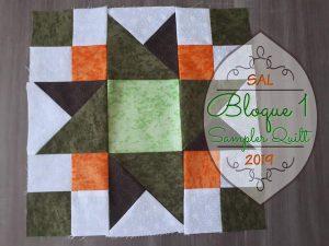 Bloque de patchwor 1 para sampler quilt