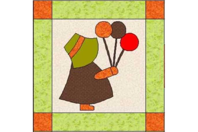 Boceto Sunbonet Sue de patchwork