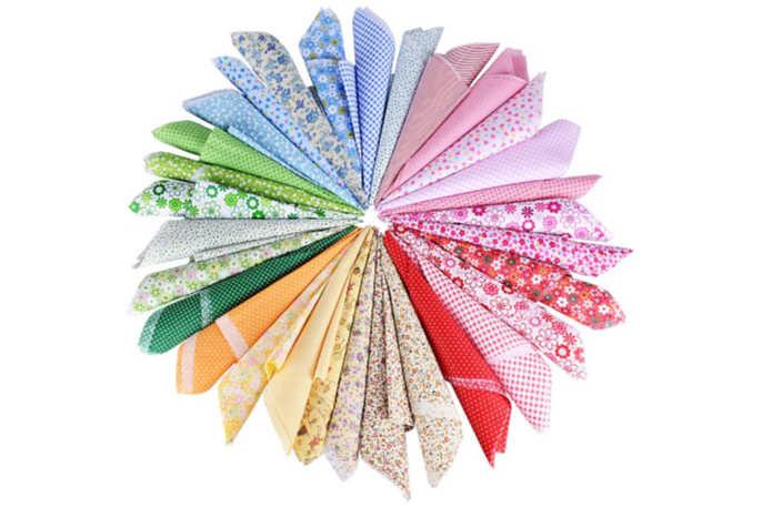 lote de telas patchwork 30 piezas