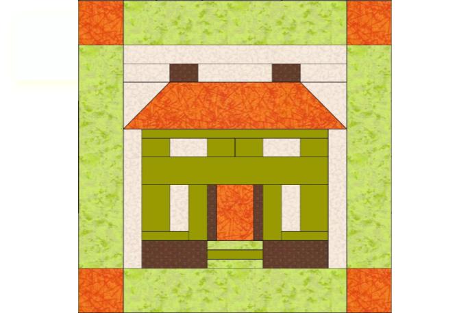 Paper piecing patchwork
