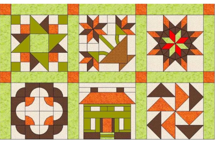 Ensamblar piezas patchwork