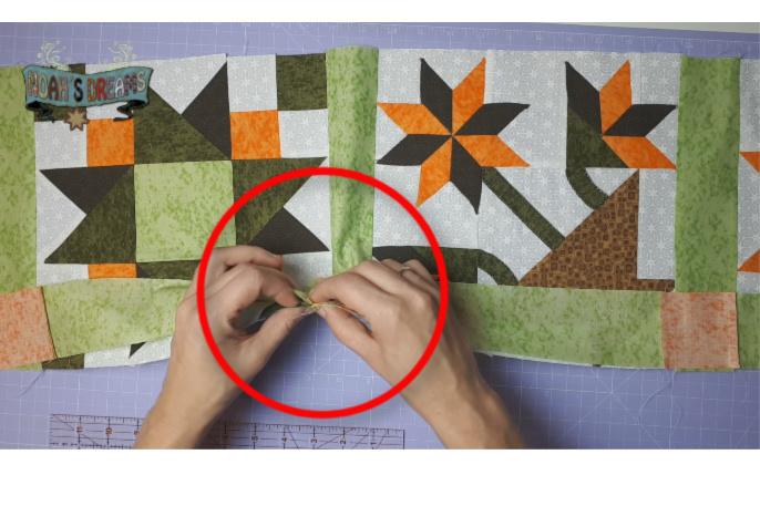 casar costuras en patchwork