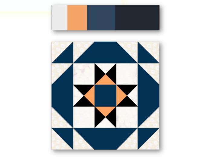 Combinar telas patchwork por paletas