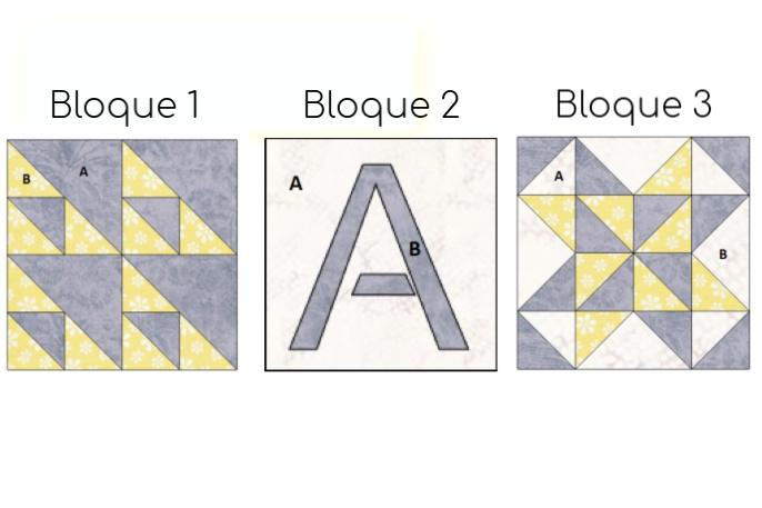Bloques para calcular tela en patchwork